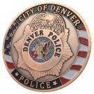 United States City of Denver Police Department Antique Copper Plated Challenge Coin For Collection