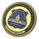 United States Military Metropolitan Police Department Gold Plated Challenge Coin For Collection