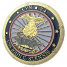 United States Navy USS John C. Stennis / CVN-74 Gold Plated Challenge Coin For Collection