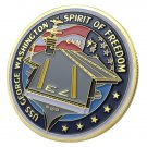 United States Navy USS George Washgtion CVN-73 Gold Plated Challenge Coin For Collection