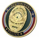 United States New Orleans Police Department Gold Plated Challenge Coin For Collection