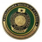 United States Oklahoma Highway Patrol Gold Plated Challenge Coin For Collection