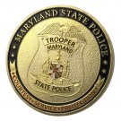 United States Maryland State Police Gold Plated Challenge Coin For Collection