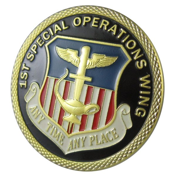 United States Air Force 1st Special Operations Wing (1 SOW) Gold Plated Challenge Coin
