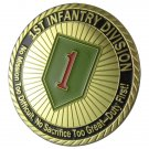 U.S. ARMY 1st Infantry Division Gold Plated Challenge Coin