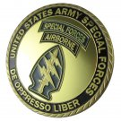 "U.S. ARMY Special Forces ""De Oppresso Liber"" Gold Plated Challenge Coin"