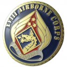 United States Army XVIII AIRBORNE CORPS Gold Plated Challenge Coin