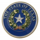 United States The State Seal of Texas Gold Plated Challenge Coin