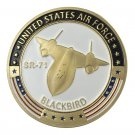 United States Air Force USAF SR-71 BlackBird Gold Plated Challenge Coin