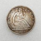 1 Pcs US 1872-S Seated Liberty Half Dollar Copy Coin