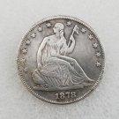 1 Pcs US 1878-S Seated Liberty Half Dollar Copy Coin
