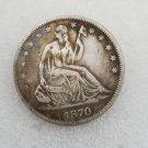 1 Pcs US 1870-S Seated Liberty Half Dollar Copy Coin