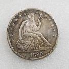 1 Pcs US 1880 Seated Liberty Half Dollar Copy Coin