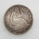 1 Pcs US 1882 Seated Liberty Half Dollar Copy Coin