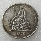 1 Pcs US 1870 Seated Liberty Standard One Dollar Copy Coin