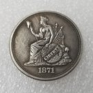 1 Pcs US 1871 Seated Liberty One Dollar Copy Coin
