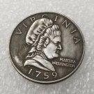 1 Pcs US 1759 Martha Washington 50 Cent Copy Coin