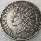 1 Pcs US 1851 Indian Head One Dollar Copy Coin