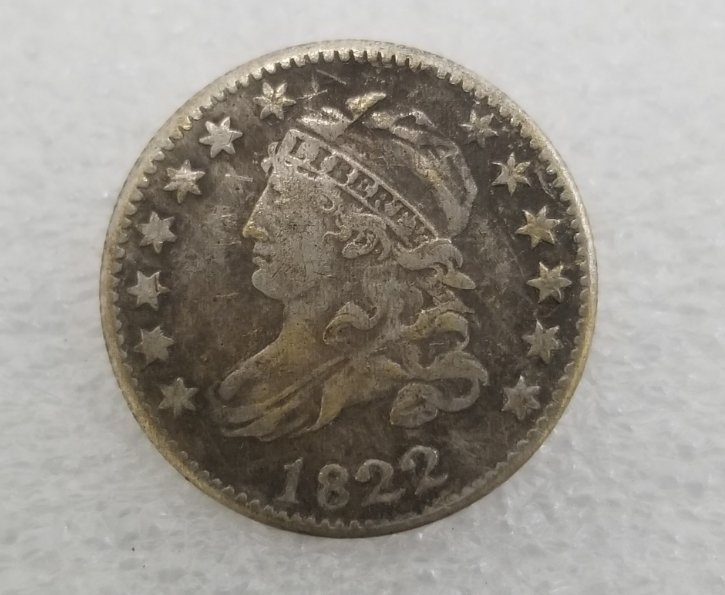 1 Pcs US 1822 Capped Bust 10 Cent Copy Coin