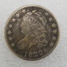 1 Pcs US 1822 Capped Bust 10 Cent Copy Coin