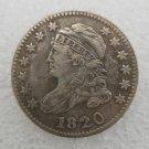 1 Pcs US 1820 Capped Bust 10 Cent Copy Coin