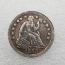 1 Pcs US 1853 Seated Liberty Half Dime Copy Coin