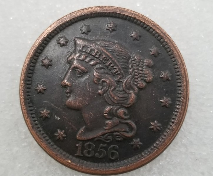 1 Pcs US 1856 Braided Hair One Cent Copper Copy Coin