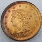 1 Pcs US 1848 Braided Hair One Cent Copper Copy Coin
