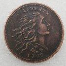 1 Pcs US 1793 Flowing Hair Wreath Leaf One Cent Copper Copy Coin