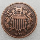 1 Pcs US 1873 Two Cents Copper Copy Coin