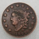1 Pcs US 1822 Braided Hair One Cent Copper Copy Coin