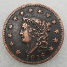 1 Pcs US 1816 Braided Hair One Cent Copper Copy Coin