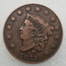 1 Pcs US 1823 Braided Hair One Cent Copper Copy Coin
