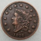 1 Pcs US 1826 Braided Hair One Cent Copper Copy Coin