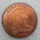 1 Pcs US 1804 Draped Bust One Cent Copper Copy Coin