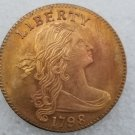 1 Pcs US 1798 Draped Bust One Cent Copper Copy Coin