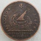 1 Pcs US 1787  Sun And Sun Dial Fugio Cent Copper Copy Coin