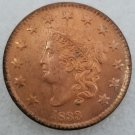 1 Pcs US 1833 Braided Hair One Cent Copper Copy Coin