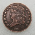 1 Pcs US 1836 Capped Bust Half Cent Copper Copy Coin