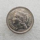 1 Pcs US 1880 Three Cent Nickel Copy Coin