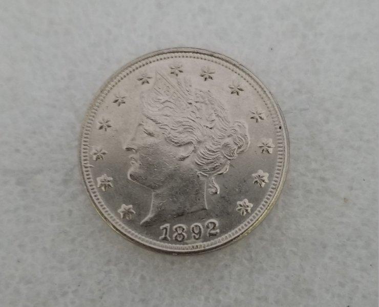 1 Pcs US 1892 Liberty Head Five Cents Copy Coin