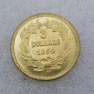 1 Pcs US 1854-D Liberty Head Three Dollar Copy Coin