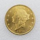 1 Pcs US 1878-CC Liberty Head Twenty Dollars Gold Copy Coin