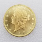 1 Pcs US 1879-CC Liberty Head Twenty Dollars Gold Copy Coin