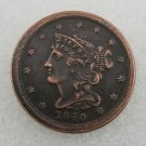 1 Pcs US 1840 Braided Hair Half Cent Copper Copy Coin