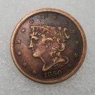 1 Pcs US 1850 Braided Hair Half Cent Copper Copy Coin