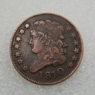1 Pcs US 1810 Capped Bust Half Cent Copper Copy Coin