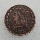1 Pcs US 1825 Capped Bust Half Cent Copper Copy Coin