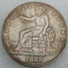 1 Pcs US 1885 Seated Liberty Trade Dollar Copy Coin