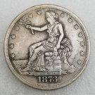 1 Pcs US 1873 Seated Liberty Trade Dollar Copy Coin